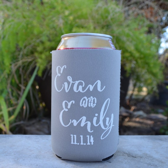 Personalized Wedding Collapsible Koozies With By GraciousBridal