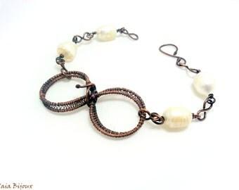 Infinity copper bracelet. Infinity bracelet. Wirewrapped bracelet.