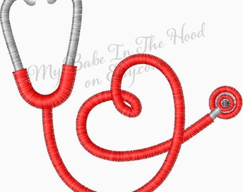 Stethoscope Embroidery Design great Nurse Embroidery and Doctor Embroidery Designs