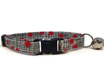 Cat Collar, Red Polka Dots