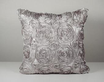 Decorative pillow cover  Silver pillow metallic pillow Trendy silver pillow cover for your home or wedding