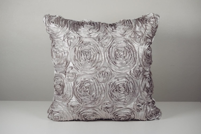 Decorative Pillow Cover Silver Pillow Metallic Pillow Trendy
