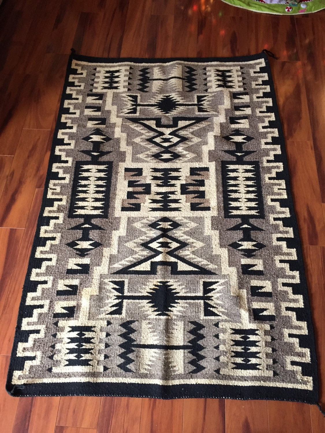1genuine navajo rug storm pattern by kauaikoa on etsy for Navajo rug coloring page
