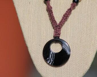 Asian Swirl Hemp Necklace