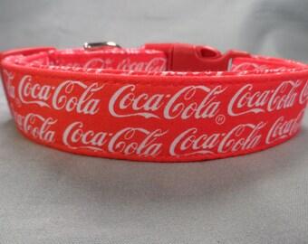 Coca Cola Fabric Coke Dog Collar