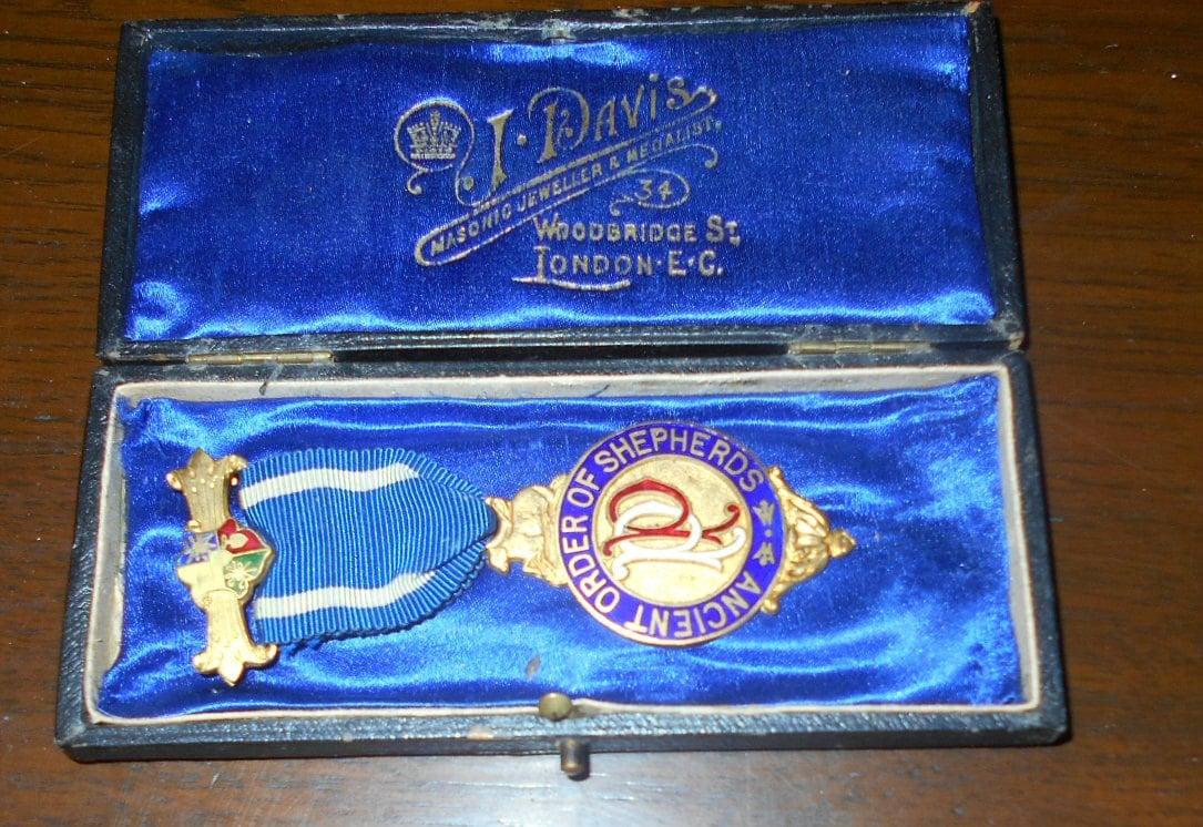 Ancient Order Of Shepherds Jewel 1890s Masonic