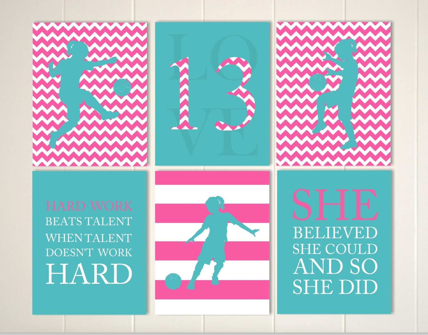 Kids Rooms Girl Power Soccer Wall Decal By Royce Lane Creations ...