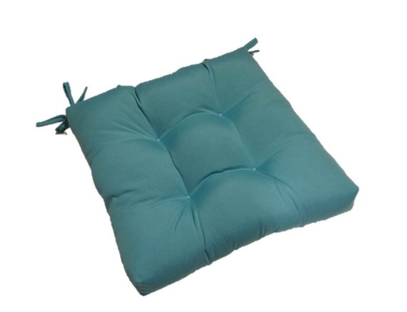 items similar to cancun blue tufted cushion pad with ties