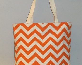 LARGE Chevron Tote Bag