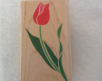 Truly Tulip Rubber Stamp by Posh Impressions - 1991 - Lightly Used