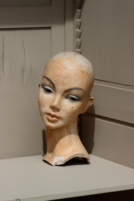 French Vintage Mannequin Head Mannequin Head Display