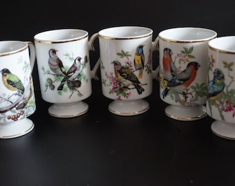 Vintage, Set of five Royal Crown coffee cups
