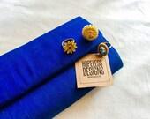 Vintage Royal Blue Handwoven Silk Clutch