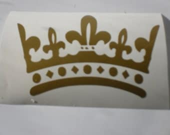 Crown Decal For Laptop, Auto and Tumblers
