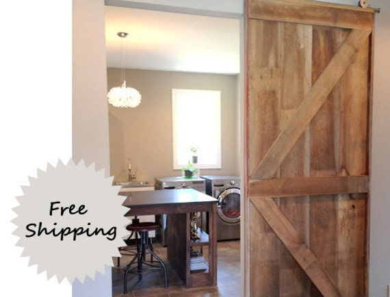Barn door room divider made to order from reclaimed pine barn for Barn door room divider