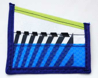 CARD WALLET UPCYCLED with five pokets- tarjetero con cinco bolsillos