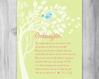 Baptism Gift from Godparents Christening Gift for Goddaughter Baby Girls Baptism Gift for Goddaughter New Baby Nursery Art Print