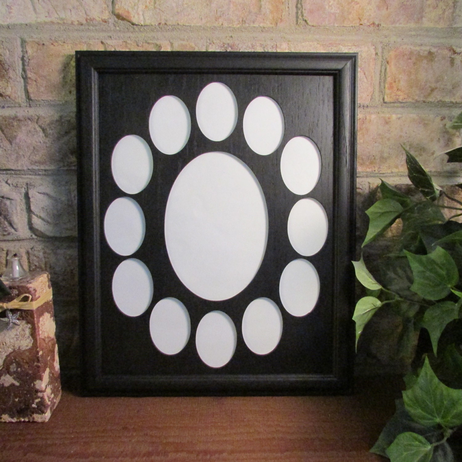 school years frame collage k 12 graduation oval black picture frame black matte 11x14