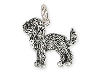 Sterling Silver Goldendoodle Charm Jewelry  GLD1-C