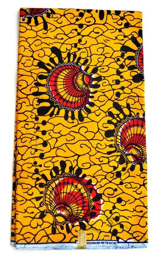 Red vlisco african fabric by the yard african by zabbadesigns for Cloth for sale by the yard