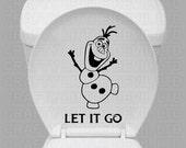 Olaf Toilet Decal