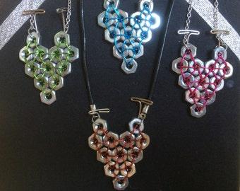 Hexnut Heart Necklace