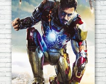 Robert Downey, Jr. Iron Man Art Print Poster