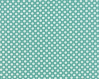 Daysail Buoy inTeal Fabric by Bonnie and Camille for Moda Fabrics