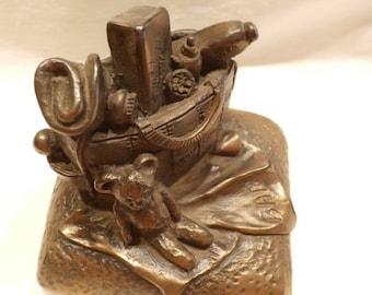 """Rynhart Bronze Fine Art Sculpture """"The Baby Bag"""""""