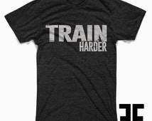 Personal Trainer tshirt Train Harder Mens Unisex Tri Blend Gym T Shirt Work Out Tee Soft High Quality