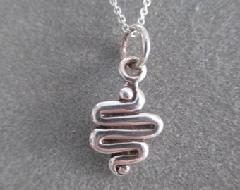 Sterling Silver Squiggle Charm Pendant #PDT100SS