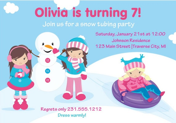 Sledding Party Invitations was Great Design To Make Awesome Invitations Card