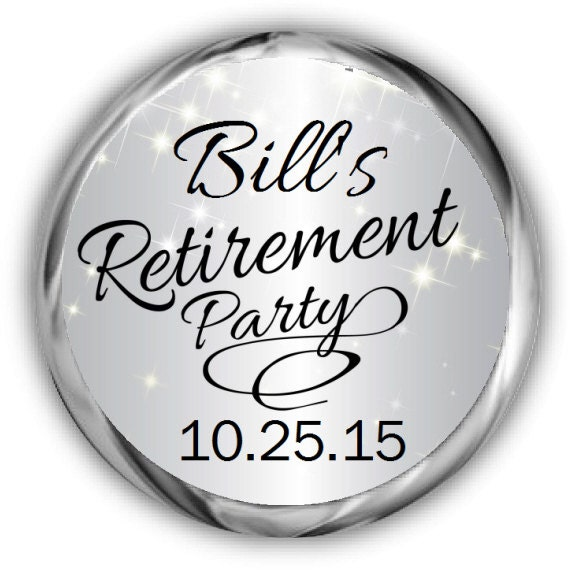 Silver Retirement Stickers Personalized Retirement