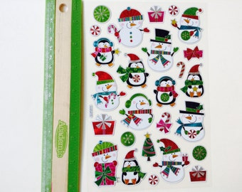 New for Scrapbooking & Handmade Cards similar to Jolee's Boutique Christmas Stickers Happy Snowmen #2