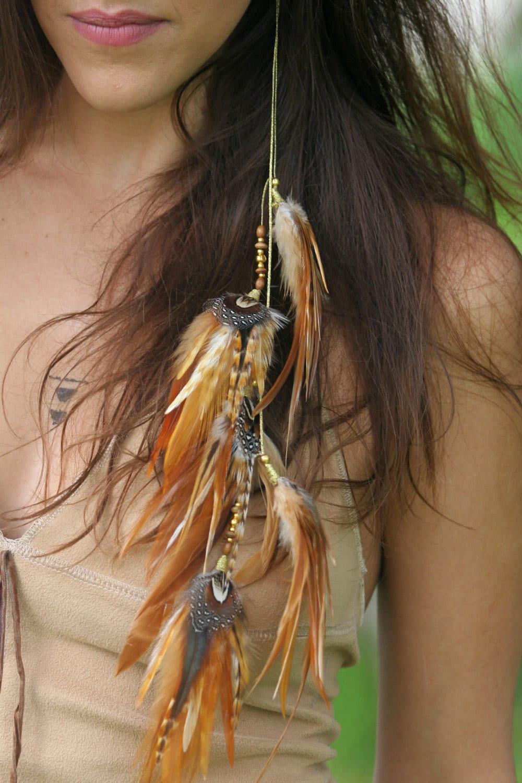 Native american feather earrings hippie earrings long for Native american feather jewelry