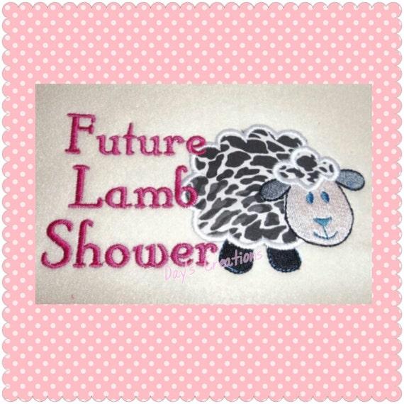 Custom made youth tshirt future lamb showman with lamb