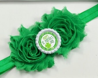 St Patricks Day Headband, St Patricks Day Bow, Happy St Patricks Day, First St Patricks Day Headband, Shamrock Headband, Green Hair Bow