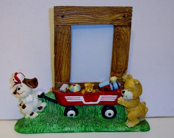 Holson Burnes Cartoon Characters & Toys Picture Frame 1992