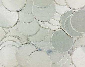 5/8 Inch 22 Gauge Sterling Silver Disc - HAMMERED EDGE_50 - 100 PCS