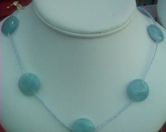 Aquamarine necklace For mother's day.