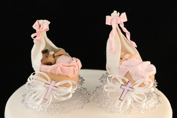 Cake Toppers For Baby Girl Christening : Baby Girl Christening Cake Topper / Decoration