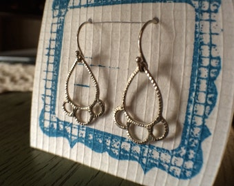 Maddie Earrings, silver dangle