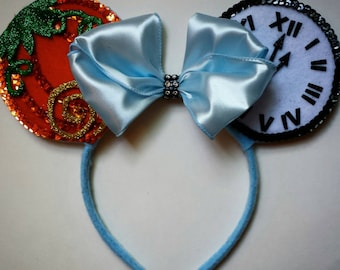 Cinderella inspired Minnie Mouse Ears