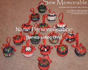Christmas Bauble - Name Personalisation Service