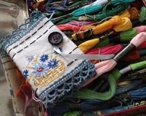 Hand-Stitched Needlecase, Original Design OOAK