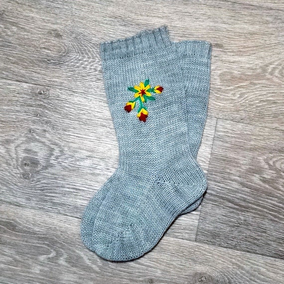 Knitted High Knee Socks for Girls Handmade Accessories for