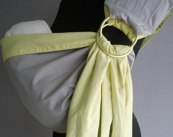 SALE! Baby Sling /Baby ring sling/Reversible Baby carrier/Baby Wrap/Yellow,Gray, SALE!!!