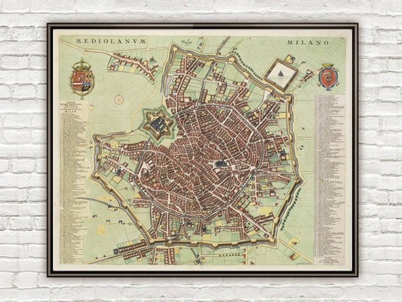 Old map of milan milano italia 1700 antique vintage map italy like this item gumiabroncs Image collections