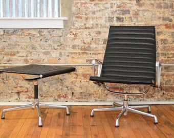 Charles and Ray Eames for Herman Miller Aluminum Group Lounge Chair and Ottoman
