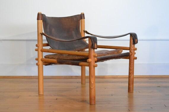 Arne Norell Safari Sirocco Lounge Chair Mid Century